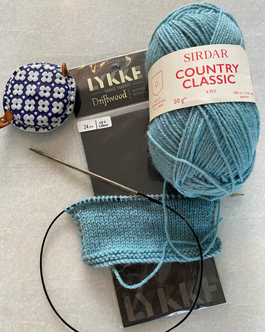 Sirdar Country Classic 4ply - Tension Square on Lykke needles