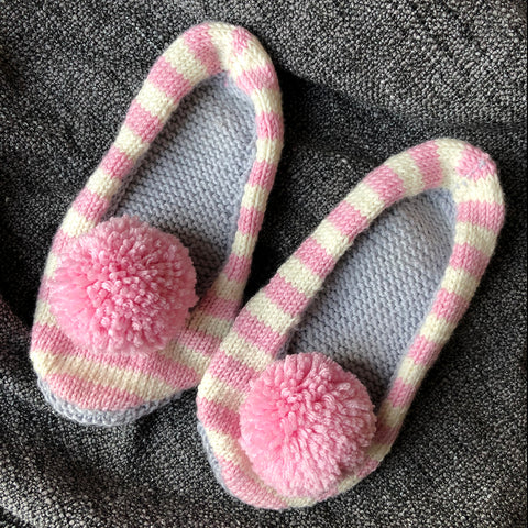 Knitted slippers in Sublime Extra Fine Merino Wool DK