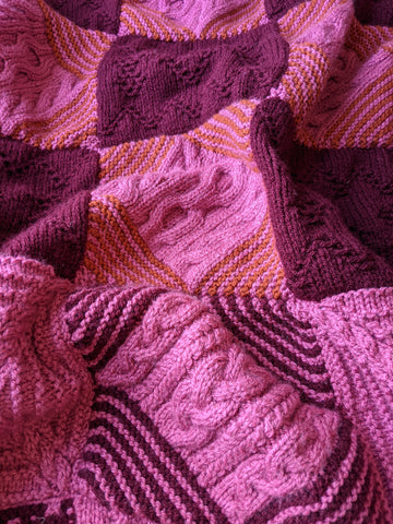 A Day Out Knit Along blanket by Sarah Hatton - Winwick colourway