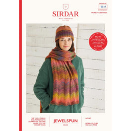 Scarf and Hat in Sirdar Jewelspun Aran