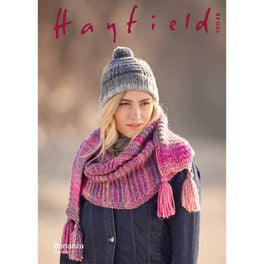 Textured Hat and Scarf in Hayfield Bonanza Chunky