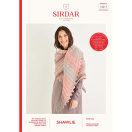 Asymmetric Scallop Edged Shawl in Sirdar Shawlie - Digital Version 10217
