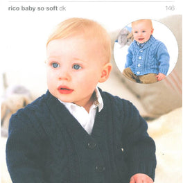 Boys Cabled Cardigans in Rico Baby So Soft DK