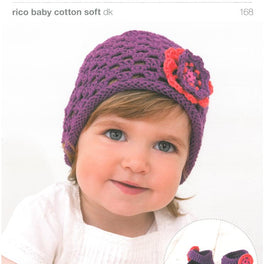 Crochet Hat and Ballerina Shoes in Rico Baby Cotton Soft Dk (168)