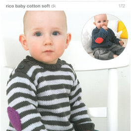 Cardigan & Jumper in Rico Baby Cotton Soft Dk (172)