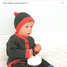 Cardigan & Hat in Rico Baby Cotton Soft Dk