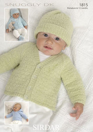 Baby / Childrens Cardigans, Hats, Mittens & Bootees in Snuggly DK