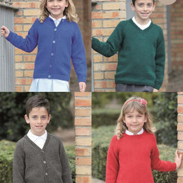 School Sweaters & Cardigans in Sirdar Wash 'n' Wear Double Crepe Dk - Digital Version