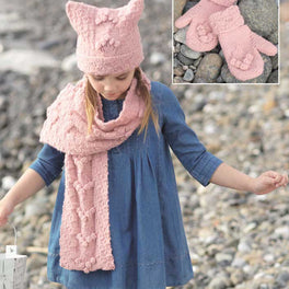 Childrens Hat, Scarf and Mittens in Sirdar Supersoft Aran - Digital Version