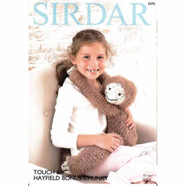 Gordon the Sloth Toy in Sirdar Touch