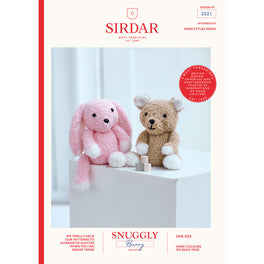 Teddy Bear and Bunny in Sirdar Snuggly Bunny