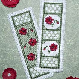 Poppy Dawn Cross Stitch Bookmark Set