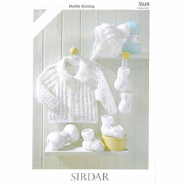 Jackets, Hat , Bootees and Mittens in Sirdar Snuggly DK - Digital Version