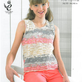 Summer Tops knitted in King Cole Opium Pallette