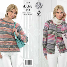 Cardigan and Sweater in King Cole Drifter DK