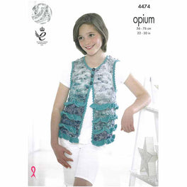 Waistcoat and Sweater in King Cole Opium Palette