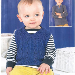 Boys tank and sweater in Sirdar Snuggly Baby Bamboo DK - Digital Version