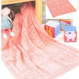 Butterfly and Flower Blanket in Sirdar Snuggly DK - Digital Version