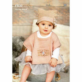Ponchos and Hat knitted in Rico Baby Classic Dk