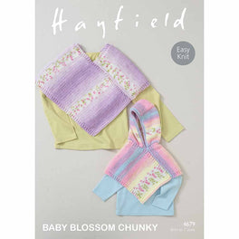 Ponchos in Hayfield Baby Blossom Chunky