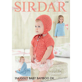 Cardigans Bonnet and Blanket in Sirdar Snuggly Baby Bamboo DK - Digital Version
