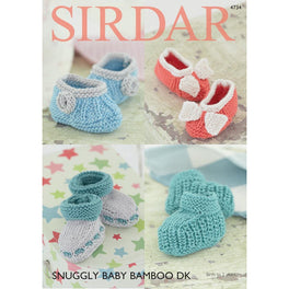 Bootees & Shoes in Sirdar Snuggly Baby Bamboo DK - Digital Version