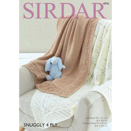 Blankets in Sirdar Snuggly 4ply 4741 - Digital Version
