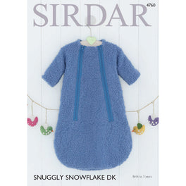 Baby Boys Sleeping Bag in Sirdar Snuggly Snowflake DK 4760