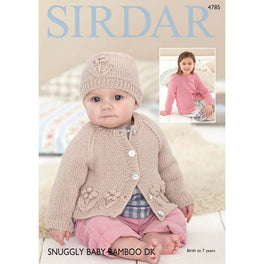 Cardigans and Hat in Sirdar Snuggly Baby Bamboo DK - Digital Version