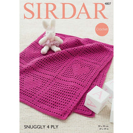 Blanket in Sirdar Snuggly 4ply - Digital Version