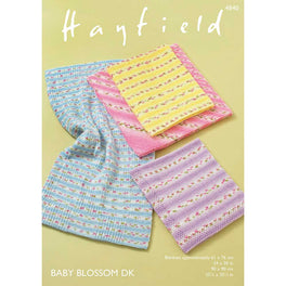 Blankets in Hayfield Baby Blossom DK - Digital Version