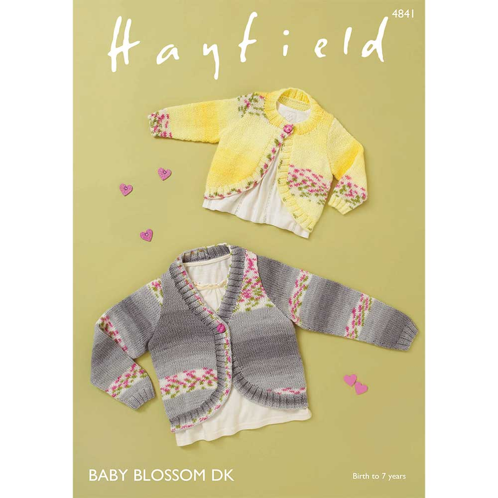 Cardigans in Hayfield Baby Blossom DK