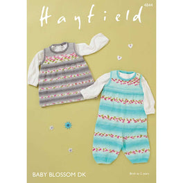Dungarees and Pinafore in Hayfield Baby Blossom DK - Digital Version