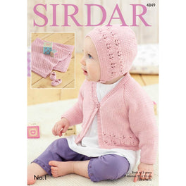 Cardigan, Bonnet, Shoes & Blanket in Sirdar No1 - Digital Version