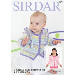 Cardigan in Sirdar Snuggly Baby Crofter Dk & Snuggly Dk - Digital Version