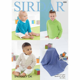 Sweaters, Cardigan and Blanket in Sirdar Snuggly DK - Digital Version
