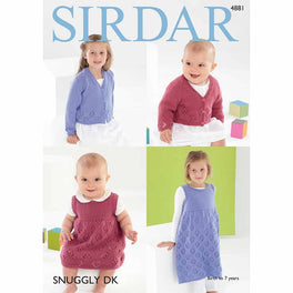Cardigan and Pinafore in Sirdar Snuggly DK