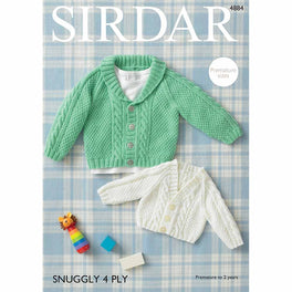 Baby's Cardigans in Sirdar Snuggly 4ply