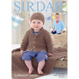 Cardigan, Hat and Blanket in Sirdar Supersoft Aran - Digital Version