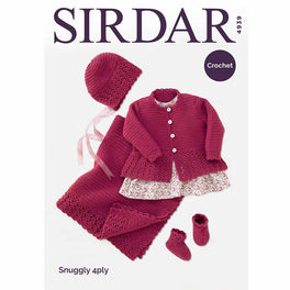 Crochet Coat, Hat, Bootees & Blanket in Sirdar Snuggly 4ply - Digital Version