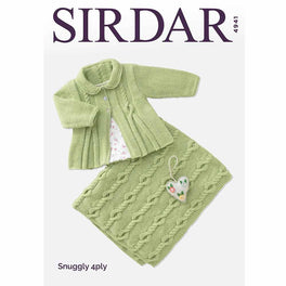 Matinee Coat & Blanket in Sirdar Snuggly 4ply - Digital Version