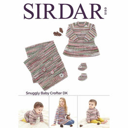 Dress, Bootees and Blanket in Sirdar Snuggly Baby Crofter Dk - Digital Version