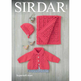Jacket, Bonnet and Blanket in Sirdar Supersoft Aran - Digital Version