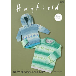Sweaters in Hayfield Baby Blossom Chunky  - Digital Version