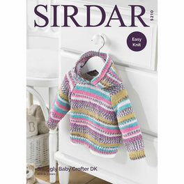 Hooded Sweater in Sirdar Snuggly Baby Crofter Dk - Digital Version