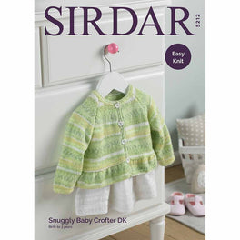 Baby Girl's Cardigan With Peplum in Snuggly Baby Crofter Dk - Digital Version