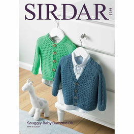Baby Boy's and Boy's Cardigans in Snuggly Baby Bamboo Dk - Digital Version