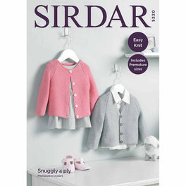 Baby's V Neck and Round Neck Cardigans in Snuggly 4ply - Digital Version