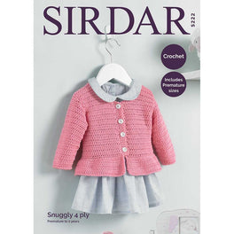 Crochet Cardigan in Sirdar Snuggly 4ply - Digital Version