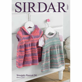 Pinafore and Dress in Sirdar Snuggly Rascal DK - Digital Version